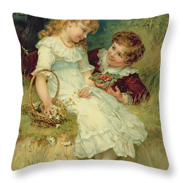 Sweethearts Throw Pillow by Frederick Morgan