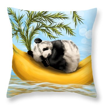 Sweetly Cradled Throw Pillow