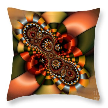Throw Pillow featuring the digital art Sweets by Karin Kuhlmann
