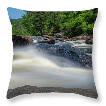 Sweetwater Creek Long Exposure Throw Pillow