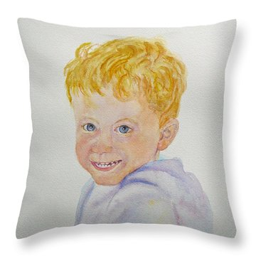 Sweety Throw Pillow by Beatrice Cloake