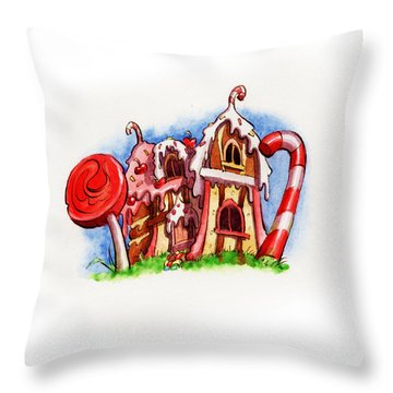 Sweety House Throw Pillow