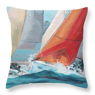 Swells Throw Pillow