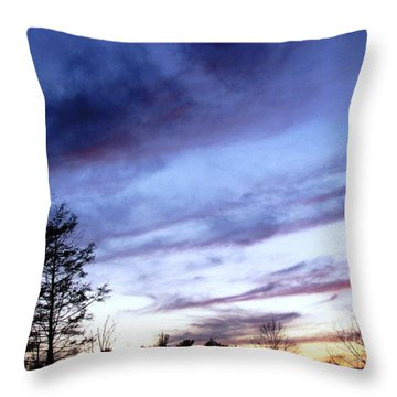 Swept Sky Throw Pillow by Melissa Stoudt
