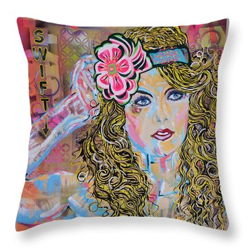 Swift Throw Pillow by Heather Wilkerson
