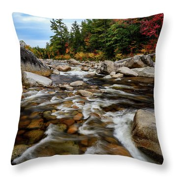 Throw Pillow featuring the photograph Swift River Autumn Nh by Michael Hubley