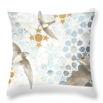 Swifts Of Cihangir Throw Pillow