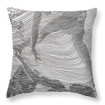 Swimmers Throw Pillow by Hawaiian Legacy Archive - Printscapes