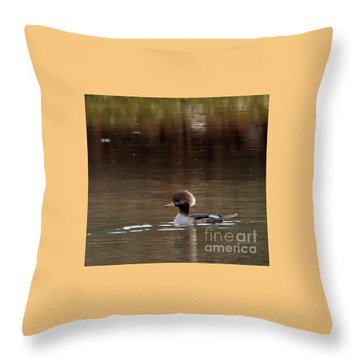 Swimming Alone Throw Pillow by Tamera James