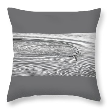 Throw Pillow featuring the photograph Swimming From Circles by Joe Bonita