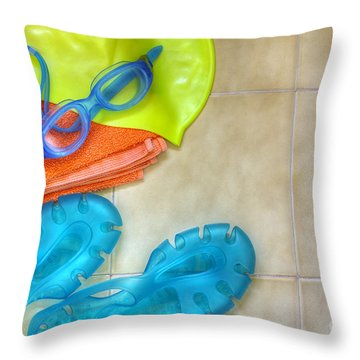 Swimming Gear Throw Pillow by Carlos Caetano
