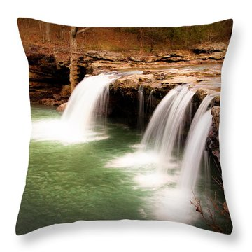 Swimming Hole Throw Pillow by Tamyra Ayles