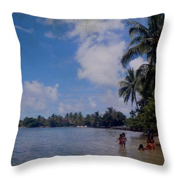 Swimming In Moorea Throw Pillow