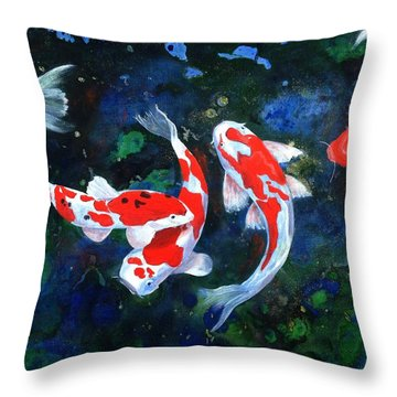 Swimming In Peace Throw Pillow