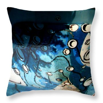 Swimming Pool Mural 2 Throw Pillow by Rachel Christine Nowicki