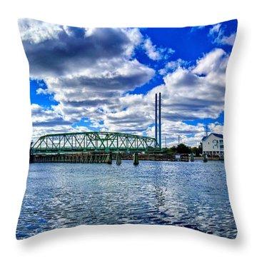Swing Bridge Heaven Throw Pillow