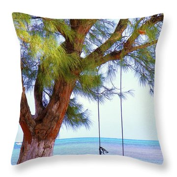 Swing Me... Throw Pillow by Karen Wiles
