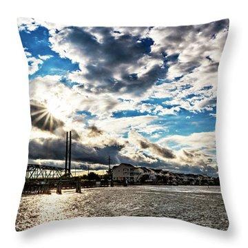 Swing Bridge Drama Throw Pillow