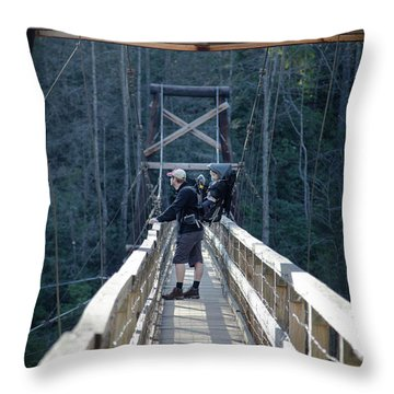 Swinging Bridge Throw Pillow