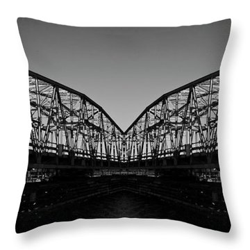 Swinging Reflection Throw Pillow by Betsy Knapp