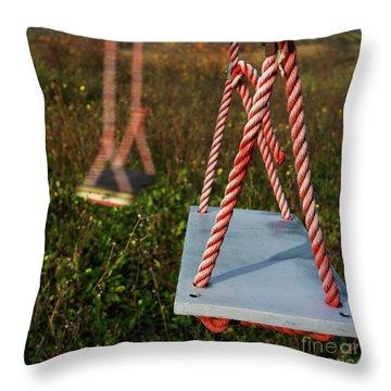 Swings Throw Pillow by Bernard Jaubert