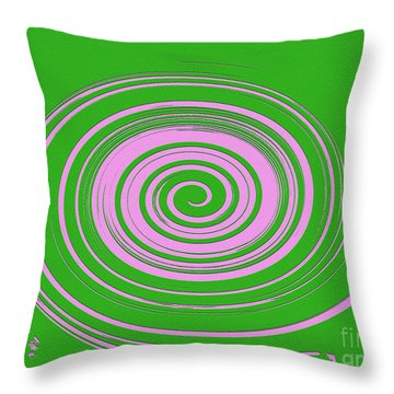 Swirl Abstract 2 Throw Pillow