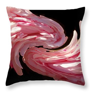 Swirl Throw Pillow by Kathleen Struckle
