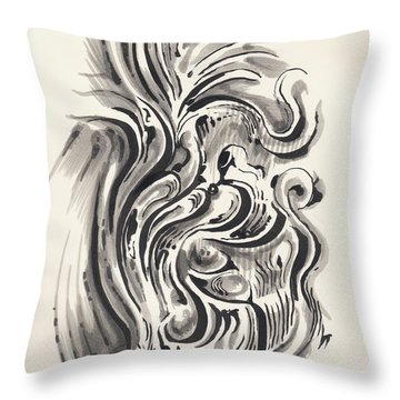 Throw Pillow featuring the drawing Swirl by Keith A Link