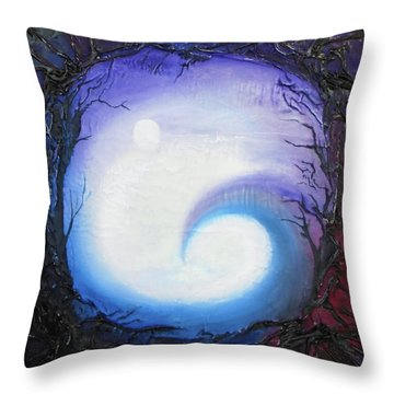 Swirl Of Fog Throw Pillow