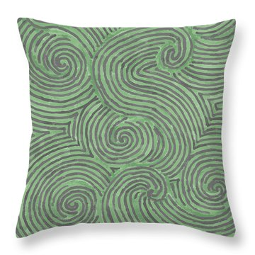 Swirl Power Throw Pillow