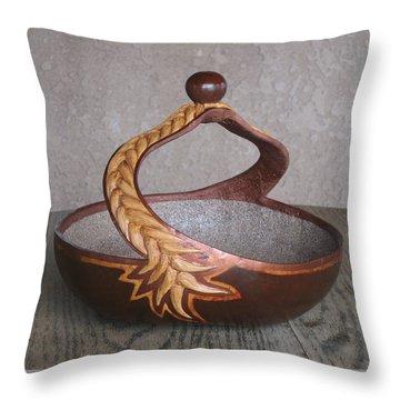 Swirl Rope Throw Pillow by Barbara Prestridge