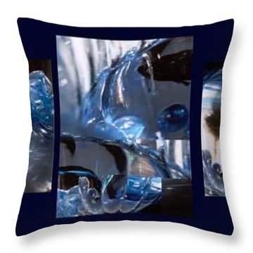 Throw Pillow featuring the photograph Swirl by Steve Karol