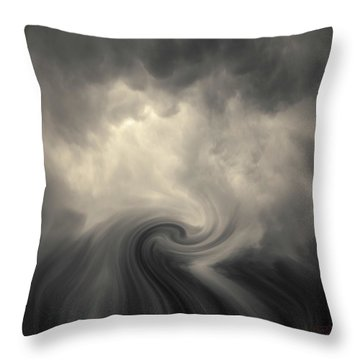 Throw Pillow featuring the photograph Swirl Wave Vi Toned by David Gordon