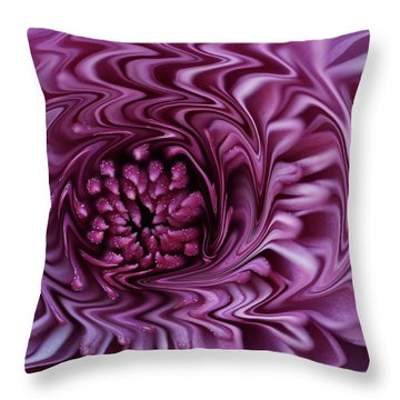 Throw Pillow featuring the photograph Purple Mum Abstract by Glenn Gordon