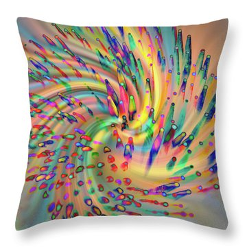 Swirligigs Throw Pillow by Cathy Donohoue