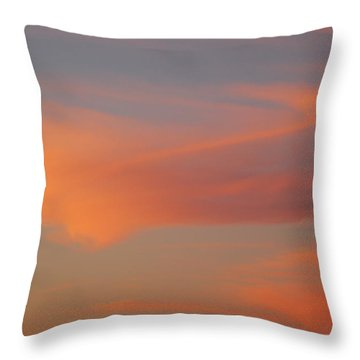 Swirling Clouds In Evening Throw Pillow