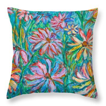 Throw Pillow featuring the painting Swirling Color by Kendall Kessler
