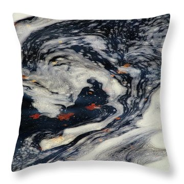 Swirling Current Throw Pillow