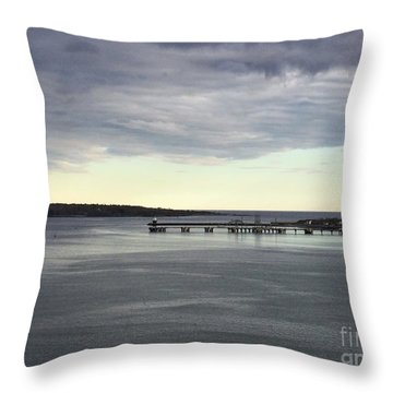 Swirling Currents On Casco Bay Throw Pillow by Patricia E Sundik