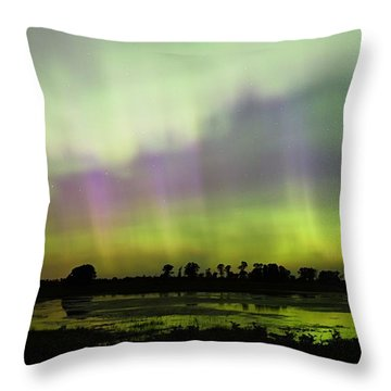 Throw Pillow featuring the photograph Swirling Curtains 2 by Larry Ricker