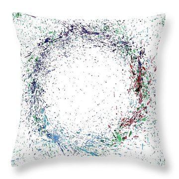 Swirling Of Life Throw Pillow