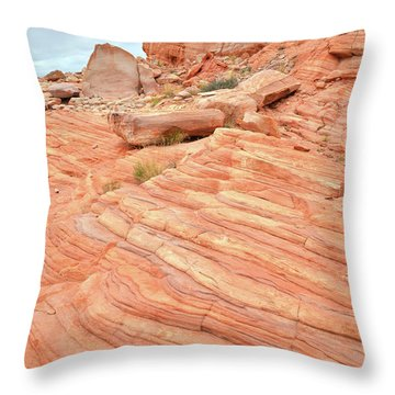 Throw Pillow featuring the photograph Swirling Sandstone Color In Valley Of Fire by Ray Mathis