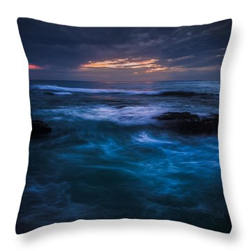Swirling Waves Throw Pillow