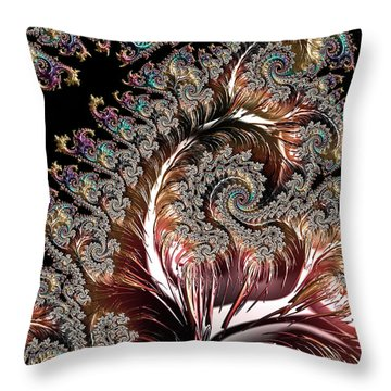 Swirls And Roots Throw Pillow