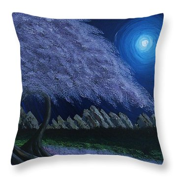 Throw Pillow featuring the painting Swirls  by Edwin Alverio