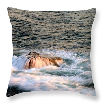 Swirls Throw Pillow by Johanne Peale
