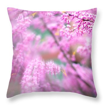 Swirls Of Spring Throw Pillow