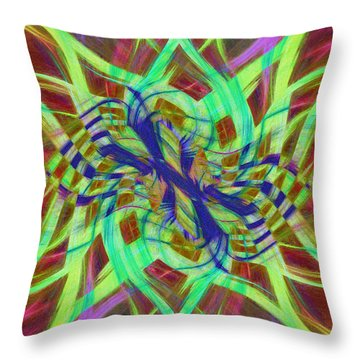 Swirly Floral Mandala 01 Throw Pillow