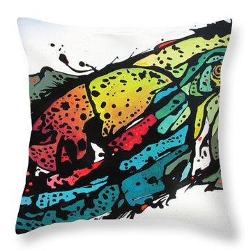 Swish Throw Pillow by Nicole Gaitan