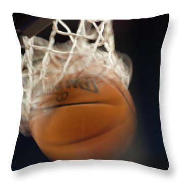Throw Pillow featuring the photograph Swish by Shane Kelly